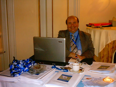 David Boventer, Executive Director of the ESWC e.V. is happy about a successful conference and a working Wifi.