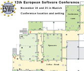 Enlarge details of the 12th European Software Conference (ESWC 2012) on November 24 and 25 in Munich - Conference location and setting